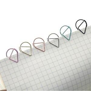Image 4 - 6 couleurs Mini goutte de pluie forme métal Simple signets Photo dossier beaux signets trombone 600 pièces/ensemble