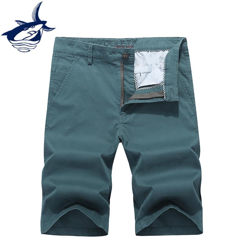 New Summer casual shorts men knee length cotton straight mens cargo short masculino men clothes 2018 brand Tace & Shark shorts