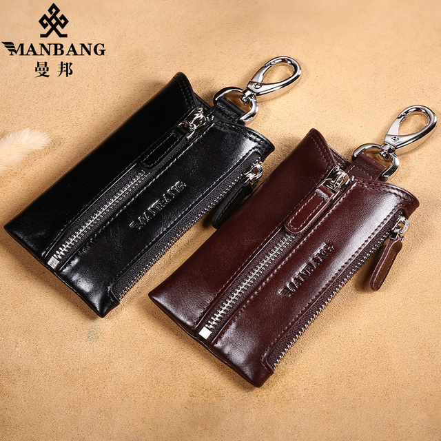 Manbang 2017 New Leather Key wallet men/women Genuine cowskin Car key case bag for keys MBYSB1303