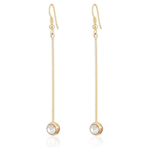 Earrings Simple Style Long Earrings Women Jewelry Gift Items 18k