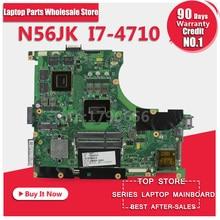 for ASUS N56JK Laptop Motherboard N56JK G56JK Mainboard with i7 CPU 8 Memory 2 RAM Slots REV:2.0 100% Tested