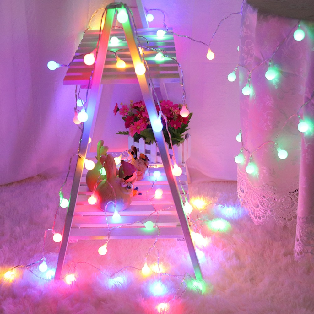 Festoon Led Light String Decoration Holiday Christmas Wedding Outdoor Party Bulb Battery Operated Garland Lights JQ