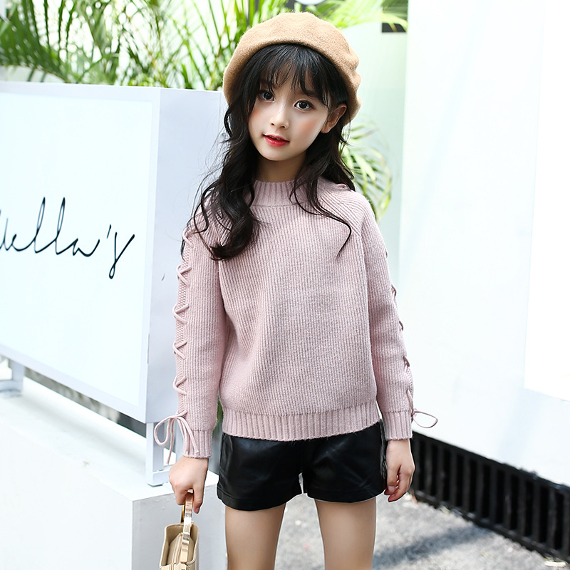 53d635949 Girls Sweaters 2019 Spring Autumn Cotton Preppy Kids Knitted Baby ...