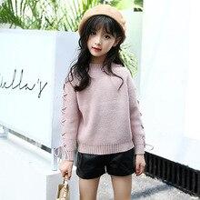Chandails en coton pour filles, pull tricoté en coton, Preppy, vêtements pour enfants de 4 à 6 8 9 10 12 13 ans, automne hiver, 2020