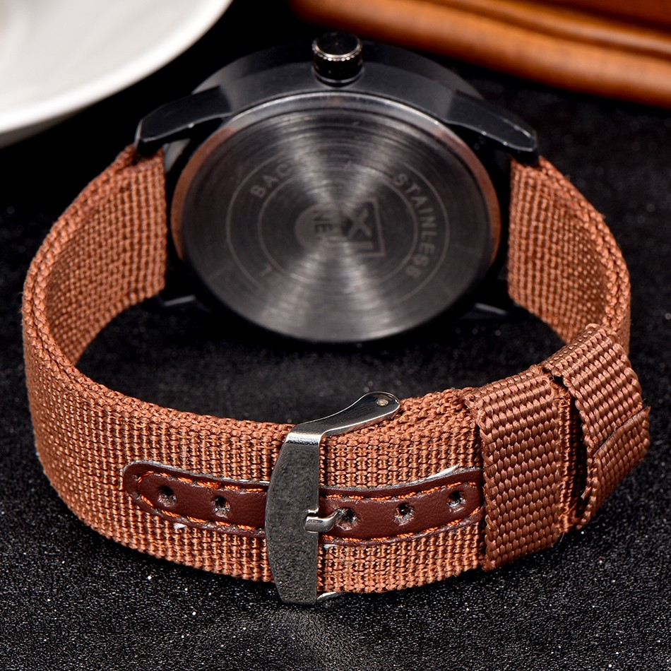 IsMyStore: 2018 XINEW Luxury Brand Nylon Strap Analog Men's Quartz Date Clock Fashion Casual Sports Watches Men Military Army Wrist Watch