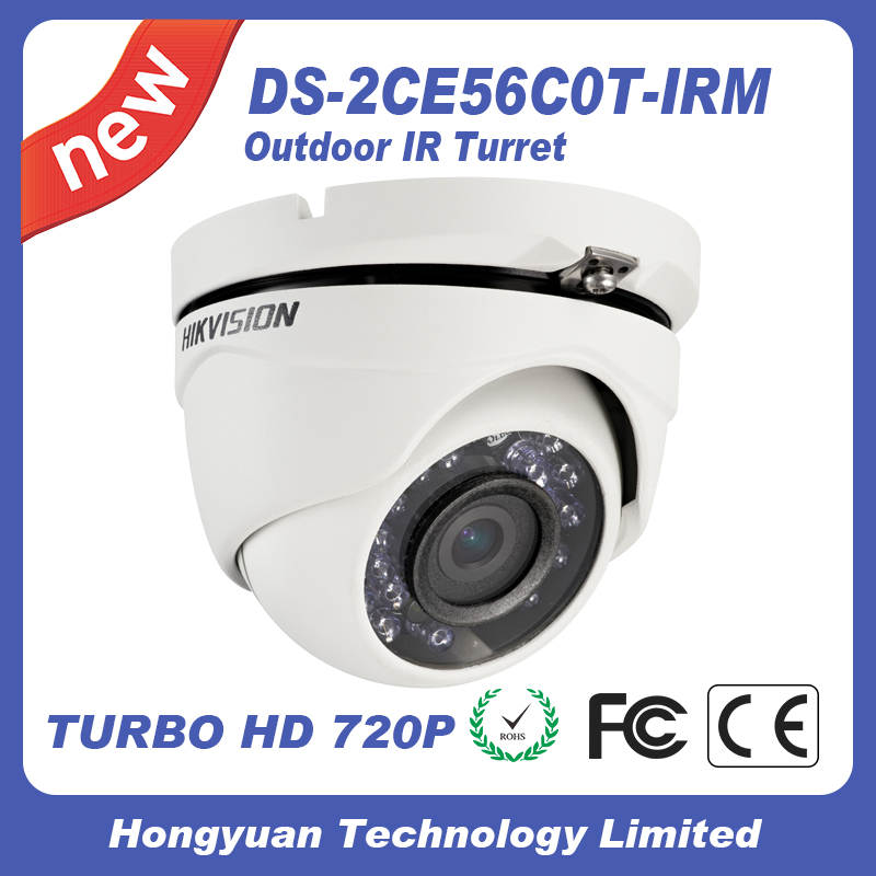 Hikvision cctv camera HD720P IR Dome Camera DS-2CE56C0T-IRM outdoor night TVI camera 4 in 1 ir high speed dome camera ahd tvi cvi cvbs 1080p output ir night vision 150m ptz dome camera with wiper