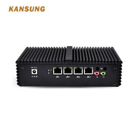 Mini PC Celeron 4 Lan pfSense Security Gateway Appliance , support AES NI,as a firewall, LAN or WAN router x86 Micro Computer