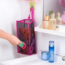 Kitchen breathable mesh hanging garbage bag storage convenient extraction
