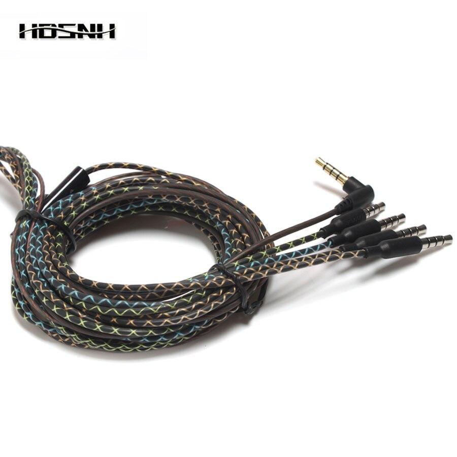 3,5 мм Высококачественная гарнитура со змеиным узором, кабель для наушников «сделай сам» с микрофоном, Сменные аксессуары для наушников