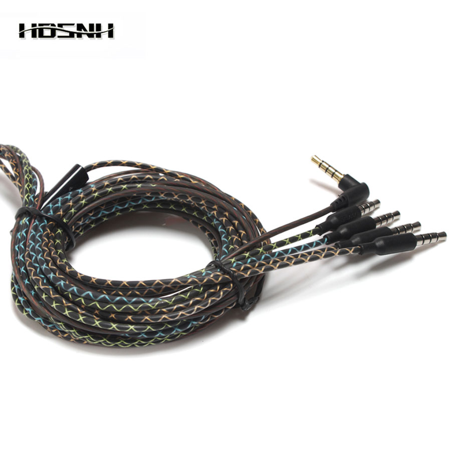 3.5mm High-end Many Design Snakeskin Headset Wire DIY Earphone Cable With Microphone Repair Replacement Headphones Accessories diy earphone snakeskin lines