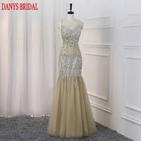 Sparkly Long Mermaid Prom Dresses Kleider Sexy Ruffle Sweetheart Beaded Women Evening Dress For Graduation Promdress