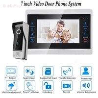 Kapı Video Kamera Video Kamera ile Güvenlik 1200TVL 1V1 Ev Apartman Kapı Zili Sistemi Giriş Kiti