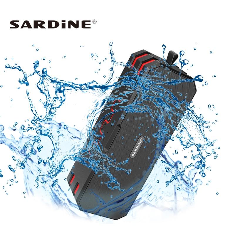 Sardine F4 Waterproof Bluetooth Speaker Super Bass Subwoofer Wireless Portable Outdoor 12W Loudspeakers Built 5000mah Battery