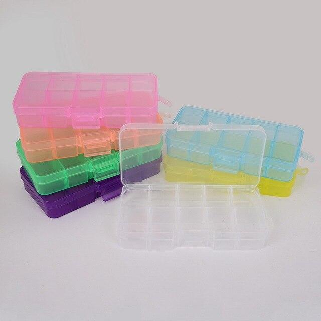 7 Colors Cheap DIY 10 cells Plastic lots Adjustable Jewelry Storage Box Case Craft Organizer Beads & 7 Colors Cheap DIY 10 cells Plastic lots Adjustable Jewelry Storage ...