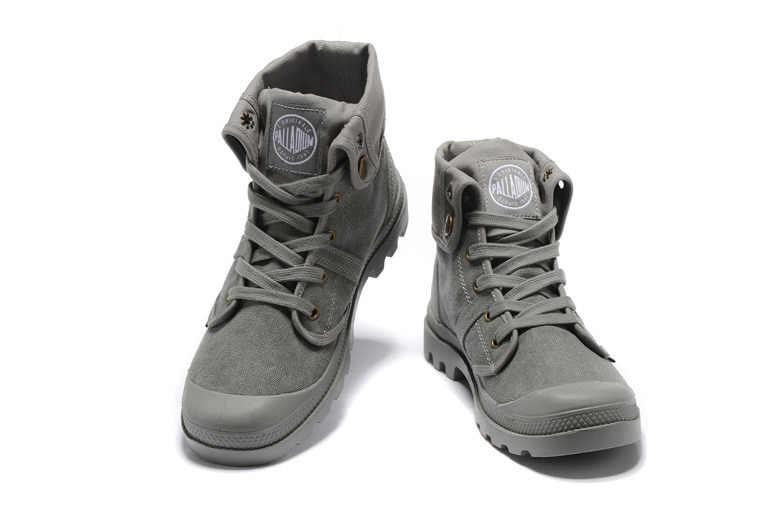 ... PALLADIUM Pallabrouse All Серые кроссовки мужские высокие военные  ботильоны парусиновая повседневная обувь мужская повседневная обувь  европейский ... cac3e91b9e797