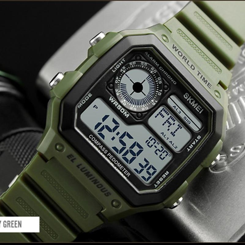Schnelle Lieferung Männer Kompass Sport Uhren Countdown Digital Led Schrittzähler Kalorien Wasserdichte Uhr Frauen Männlich Uhren Reloj Hombre 2018 Skmei Digitale Uhren