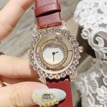 New Rose Gold Diamond Women Watches Fashion Women Roll Drill Dress Rhinestone Quartz Wrist Watch Bracelet Ladies Watch Clocks цена и фото