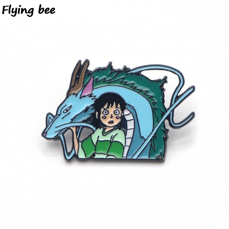 Flyingbee Anime Enamel Pins For Women Men Backpack Badge Personality Hat Pin Charm Jewelry X0137