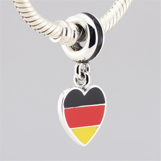 Mix Enamel Flags Charms 925...