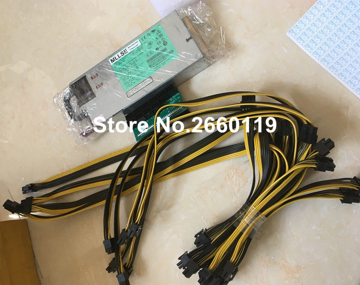 power combination for DPS-1200FB A 440785-001 438202-001 438202-002 HSTNS-PL11 with breakout board and 6 to dual 6+2pin cable apogee one breakout cable