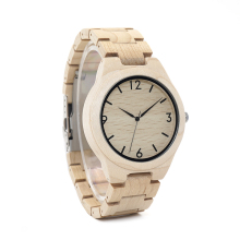 BOBO BIRD WH01 Pine Wooden Quartz Watch Season Gift Design for Anniversary Edition Series of Wooden Watches Maple OEM