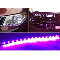 ZYHW Brand 10pcs DC12V 30cm 15 SMD LED Car Truck Flexible Waterproof Light Strip Purple
