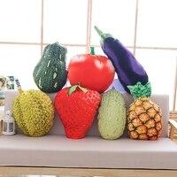 1 шт. about50cm фрукты подушка дуриан ананас клубника помидор баклажаны Дыня тыквы растительное плюша подушки-игрушки