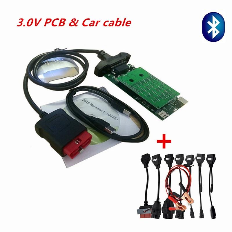 3,0 в с 2016,00 или 15R3 с Bluetooth /usb VD CDP для диагностики автомобиля, грузовика, диагностический инструмент для VD ds150e CDP с автомобильными кабелями
