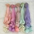 3PCS/LOT Culry BJD Wigs Hair DIY Doll Curls Colored Hair Doll 25CM