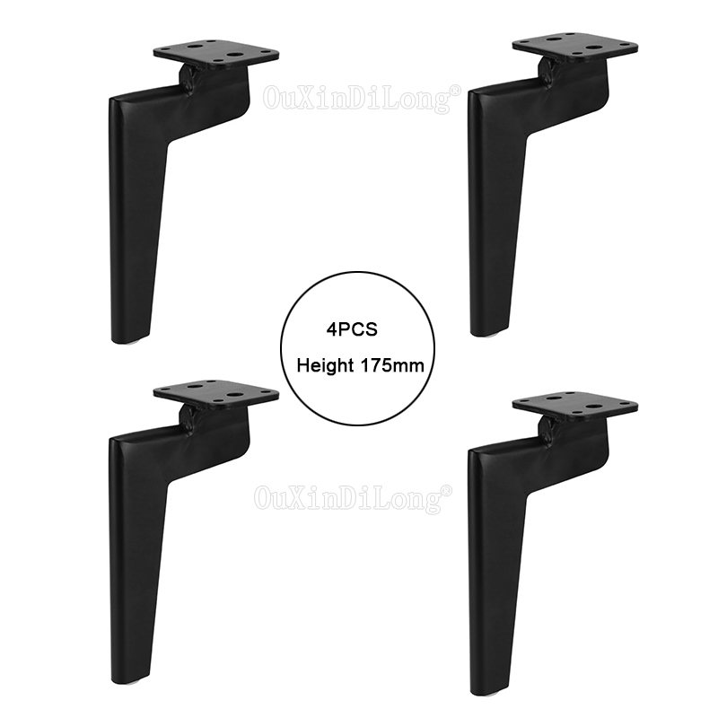 Pleasing Us 78 68 40 Off 4Pcs Black Metal Furniture Legs Retro Sofa Couch Feet Furniture Accessories Height 175Mm Jf1801 In Casters From Home Improvement On Home Interior And Landscaping Mentranervesignezvosmurscom