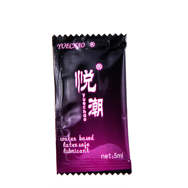 10pcs/lot Water-based Female vaginal oil Sex anal lubricant Gay Sexual lubricants 5ml pouch Travel portable lube Free shipping