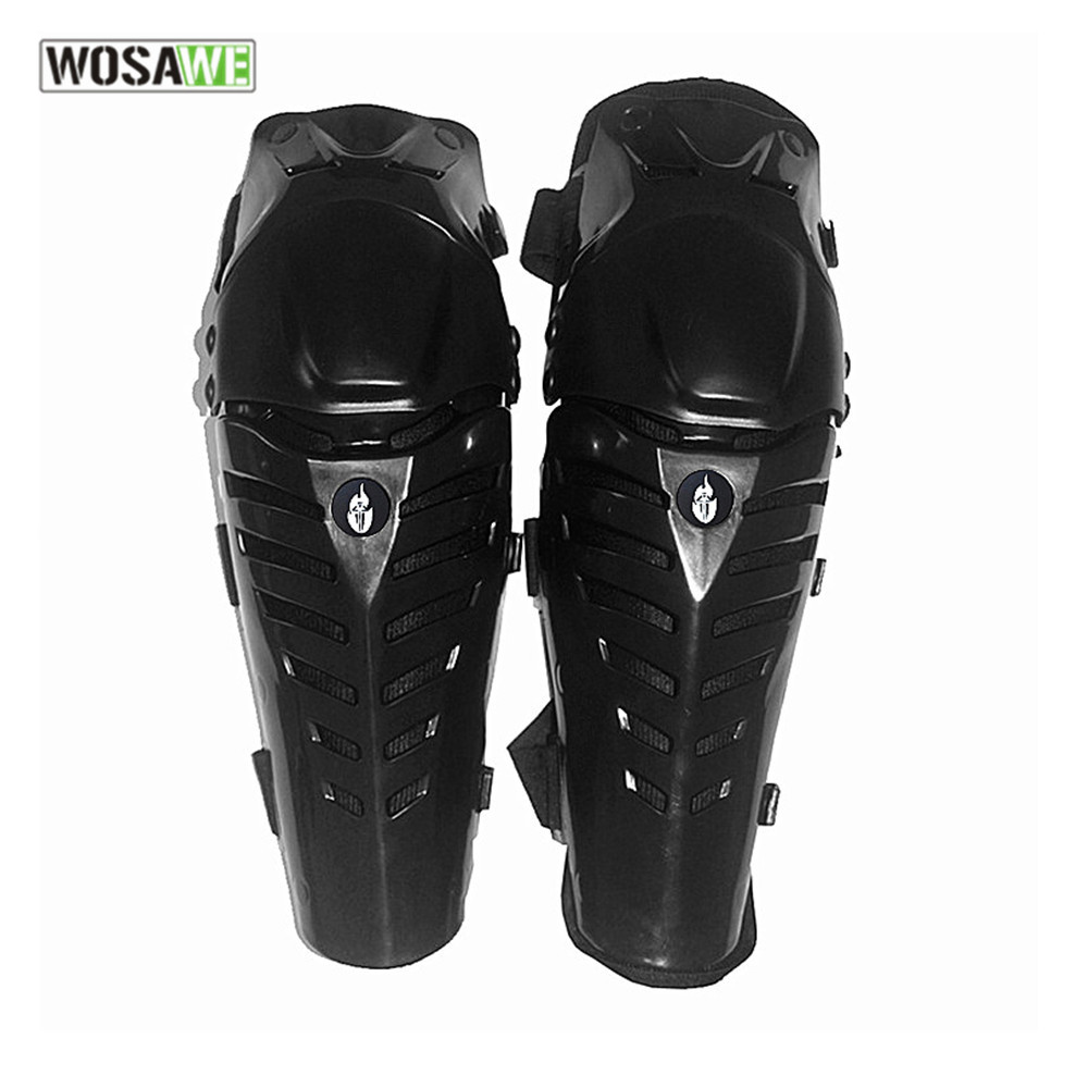 WOSAWE ABS shell foam Protective kneepad Motorcycle Knee pads Protector Sports Scooter Guards Safety gears motocross knee brace