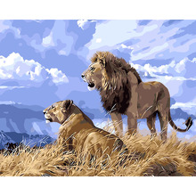 Lion Simba Frameless Painting & Calligraphy Animals DIY By Numbers Home Decor For Living Room 40*50cm