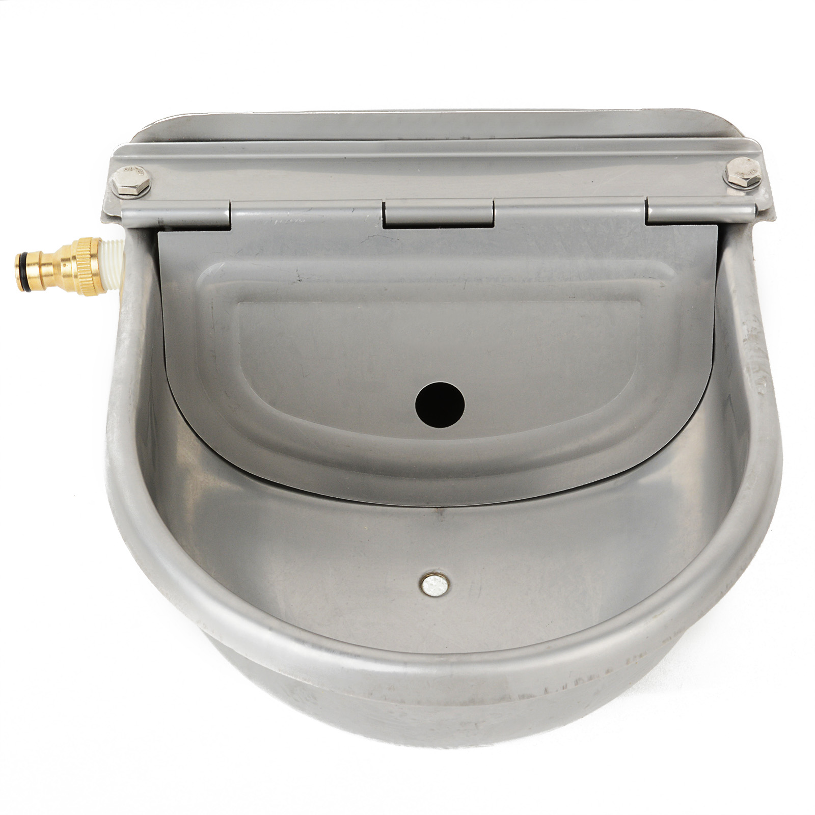 4L Automatic Water Trough Stainless Steel Sheep Dog Chicken Cow Auto Fill Bowl Feeding Watering Supplies MAYITR