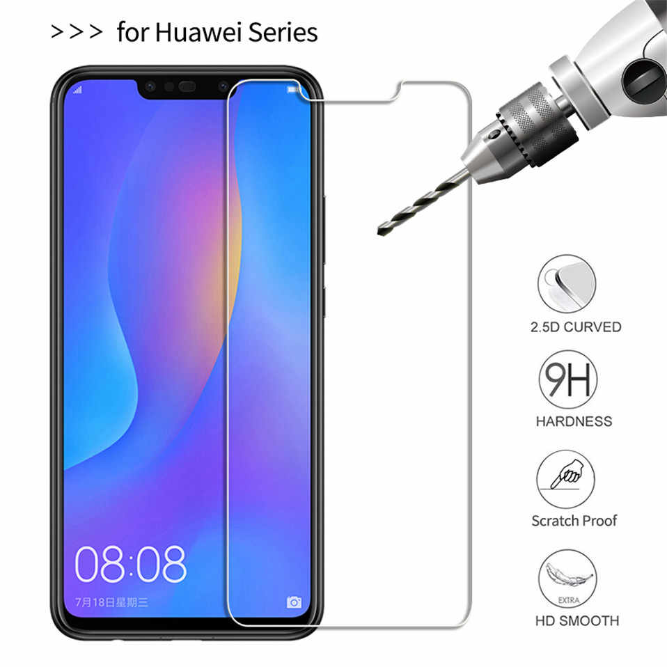 2Pcs Tempered Glass For Huawei Y9 P Smart 2019 P20 lite Mate 20 Pro screen protector on honor 10 9 Lite 8X Huawei P20 lite Glass