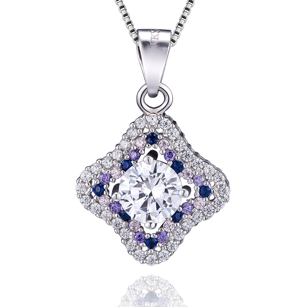 VOJEFEN Fashion Fine Jewelry 925 Sterling Silver Cubic Zirconia Four Leaf Clover Pendant and NecklaceVOJEFEN Fashion Fine Jewelry 925 Sterling Silver Cubic Zirconia Four Leaf Clover Pendant and Necklace