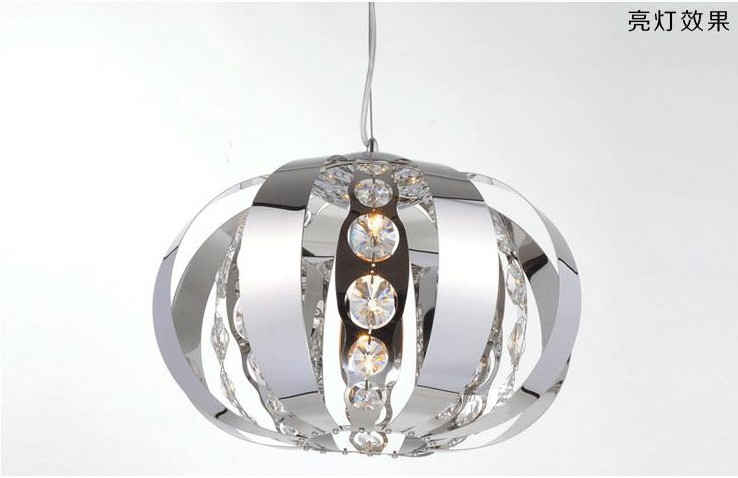 2015 new Pendant lamp for dinning room , stainless steel +crystal pendant light ,dia 35cm ,Dinning room light