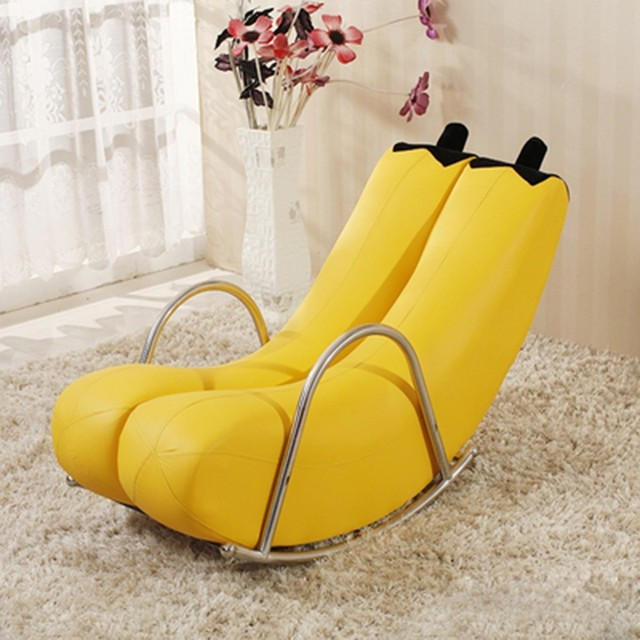Lounge Chair Lazy Couch Single Balcony Bedroom Small Sofa Mini Cute Modern  Minimalist Creative Nap Rocking