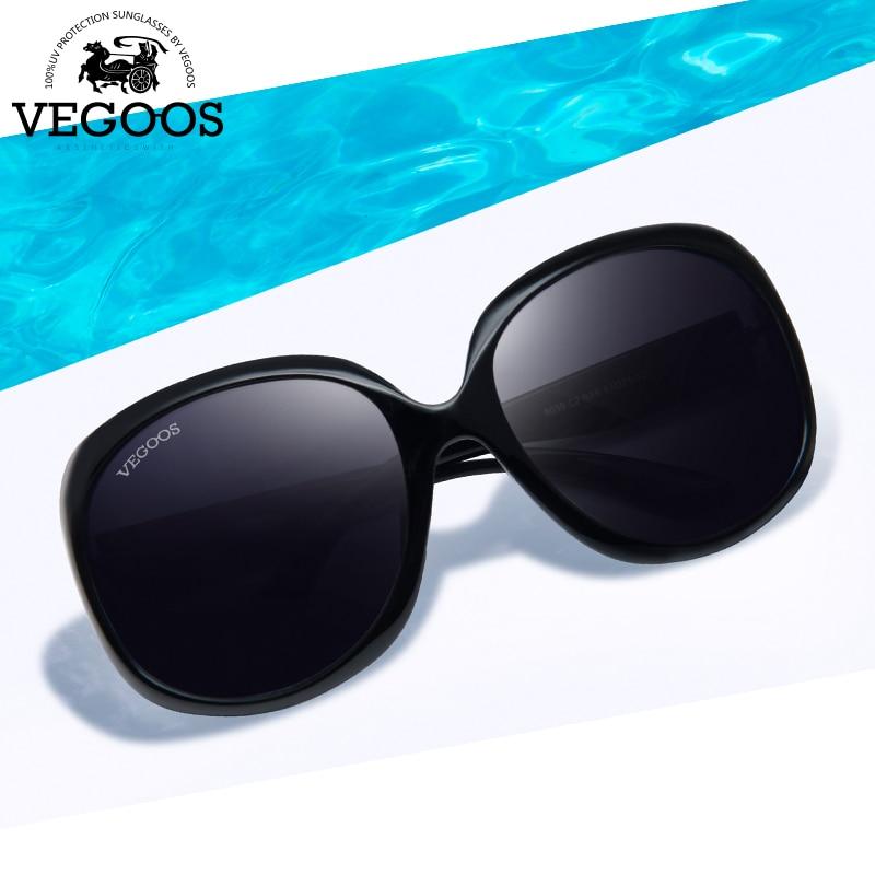 VEGOOS Merek Mewah Designer Polarized Sunglasses wanita Mengemudi Kacamata Matahari Polaroid Mode Bingkai Besar Gratis Pengiriman Baru # 9039