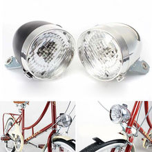 New Retro Bicycle Light Bike 3 LED Front Light Headlight Vintage Flashlight Convenient Safety Lamp Accessories Lampe Velo #kj(China)