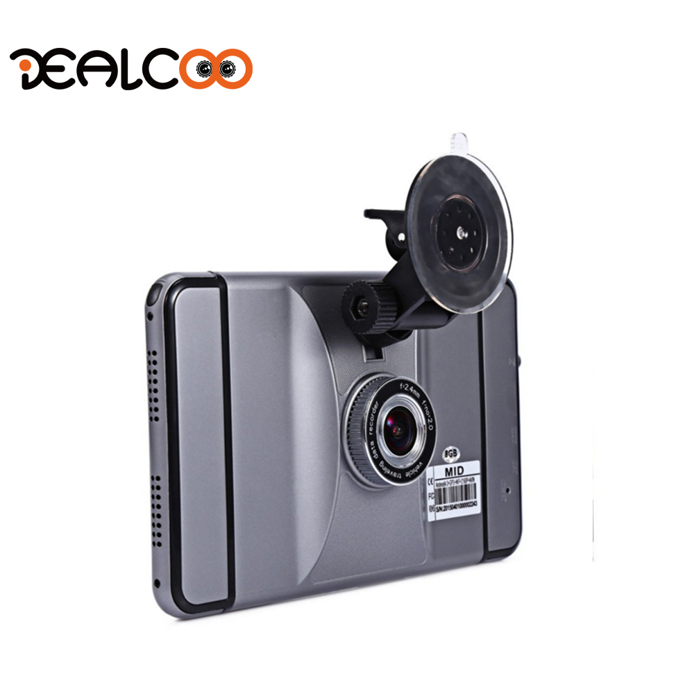 Dealcoo New 7 Android 4.4 Car GPS Navigation FHD 1080P Car DVR Camera Recorder WiFi Bluetooth MT8127 Quad-core Vehicle gps DVRs