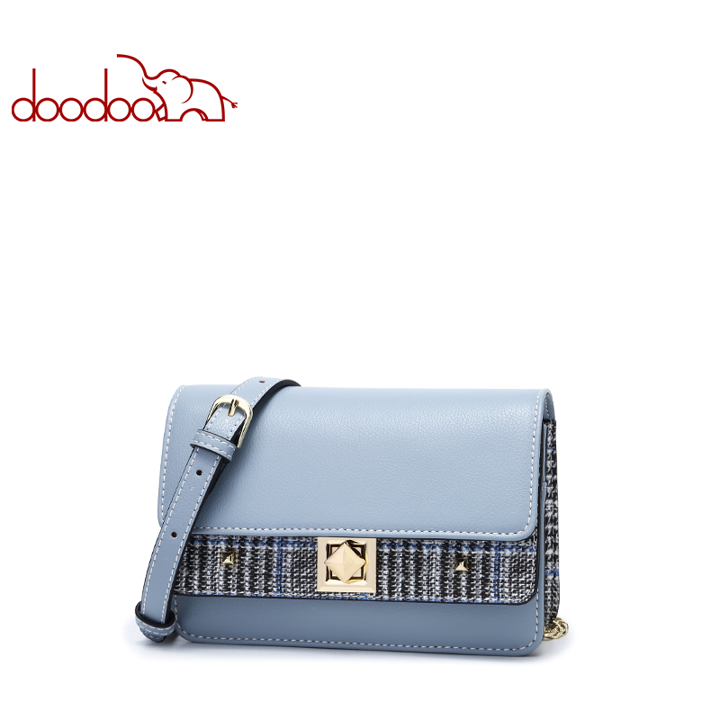 Doodoo Brand Shoulder Bag Luxury Leather Women Handbag Fashion Small Flap Crossbody for Lady Personality Chain Messenger BagsDoodoo Brand Shoulder Bag Luxury Leather Women Handbag Fashion Small Flap Crossbody for Lady Personality Chain Messenger Bags