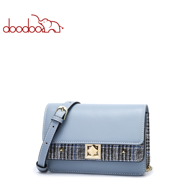 Doodoo Brand Shoulder Bag Luxury Leather Women Handbag Fashion Small Flap Crossbody for Lady Personality Chain Messenger Bags