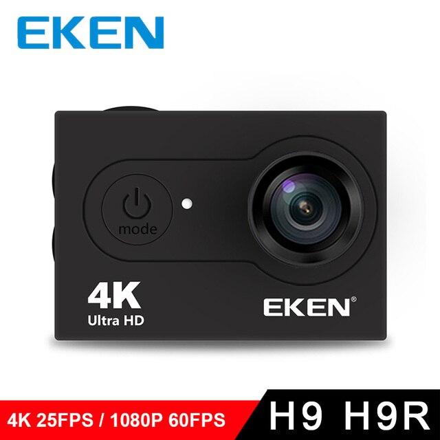 100% Original EKEN Ultra HD 4K Video 170 degree Wide Angle Sports Cam 2-inch Screen 1080p 60fps action Camera H9 / H9R 5pcs/lot