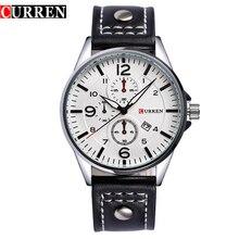 2016 CURREN Lujo Casual Hombres Relojes de Cuarzo Analógico Militar Deportes Calendario Relojes Del Relogio masculino 8164
