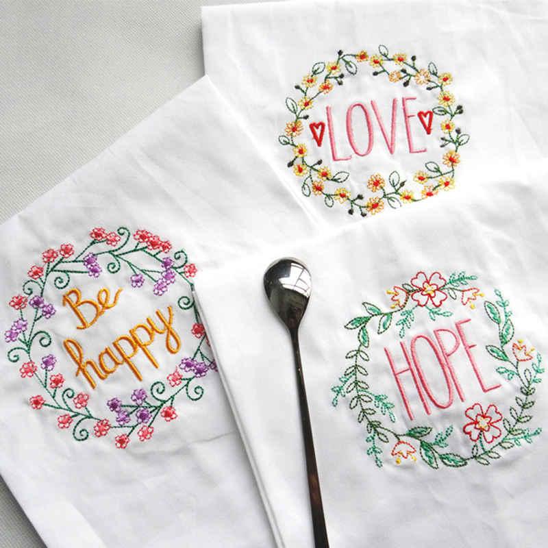 Вышитые свадебные салфетки абсорбент хлопок в сдержанном стиле высококлассная домашняя салфетка чайное Полотенце кухонное использование носовой платок