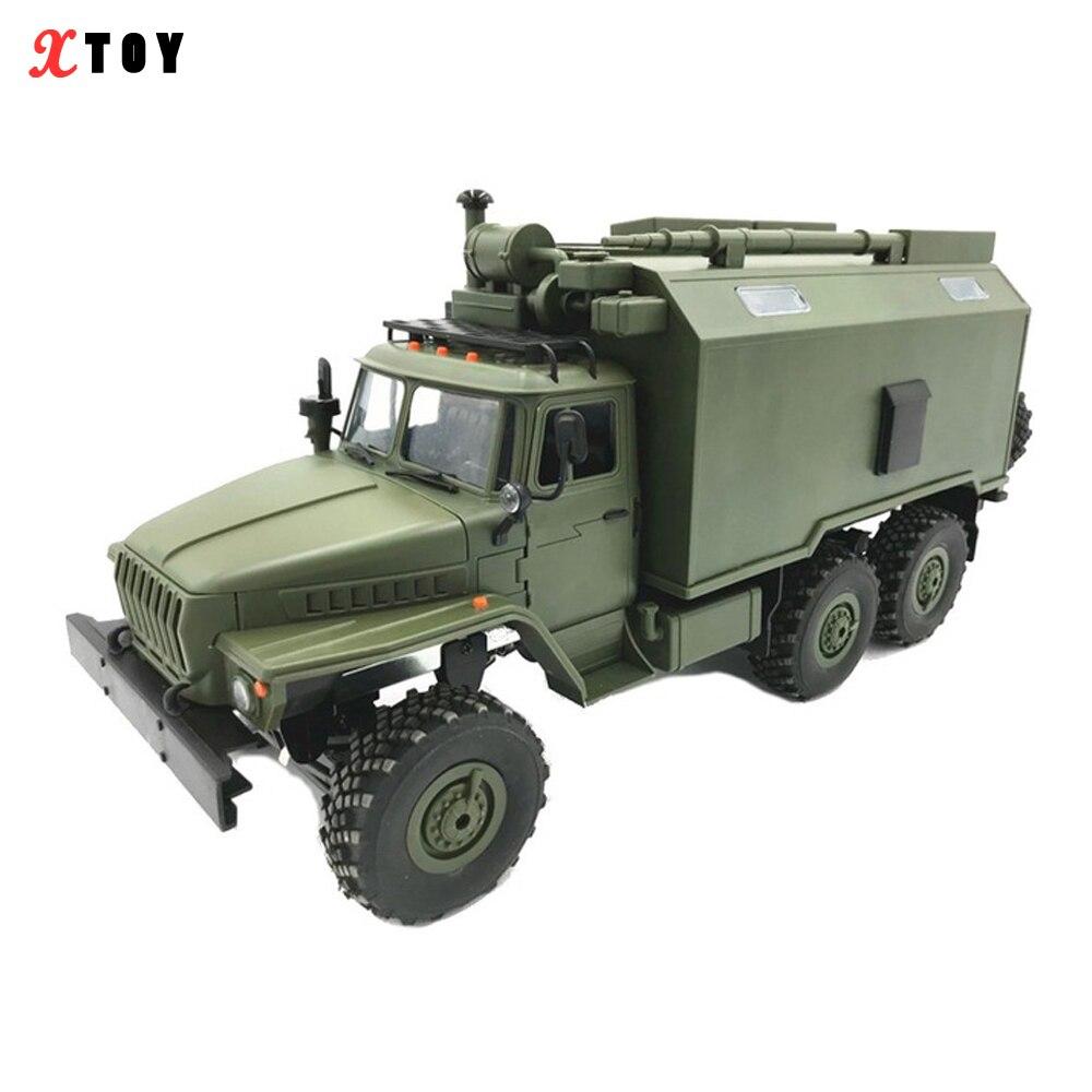 WPL B36 Ural 1/16 2.4G 6WD MINI RC voiture modèle camions militaires commande véhicule de Communication RTR jouet armée télécommandé camions