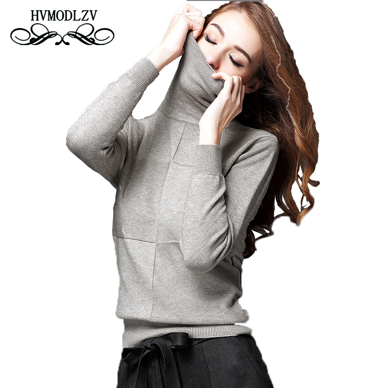 2017 Autumn Winter Women wool Sweater Plus size High collar Top Knitted Female Hedging Sweater Fashion christmas Sweater lj027