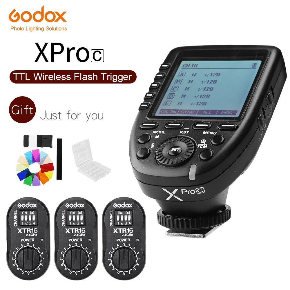 Godox XPro C Flash Trigger Transmitter with E TTL II 2 4G Wireless X System HSS