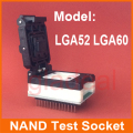 LGA52 60 IC Memory Chip NAND Programmer Test Socket For iPhone iPad Change Serial Number